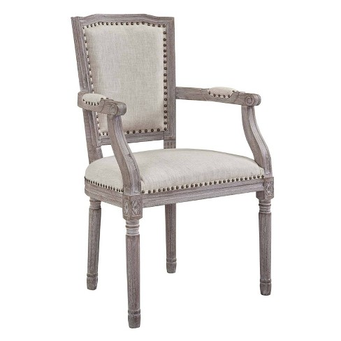 Penchant Vintage French Upholstered Fabric Dining Armchair - Modway - image 1 of 4