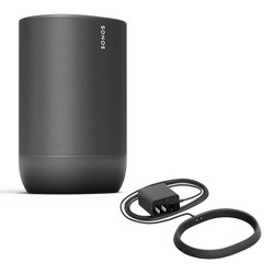 Sonos Move Durable, -Powered Smart Speaker with Additional Charging Base (Black)
