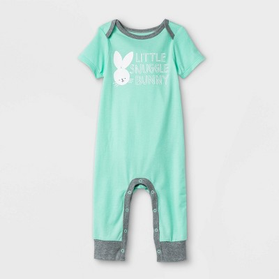 Baby Snuggle Bunny Romper - Cat & Jack™ Green