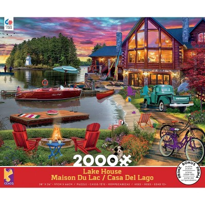 Ceaco Lake House Jigsaw Puzzle - 2000pc