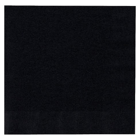50ct Black Lunch Napkin - image 1 of 1