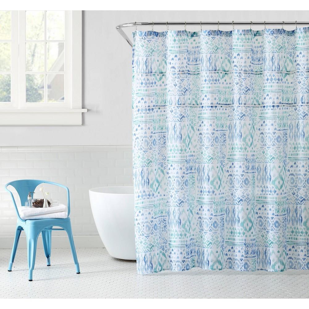 Image of Yasmin Shower Curtain Blue - Peach & Oak