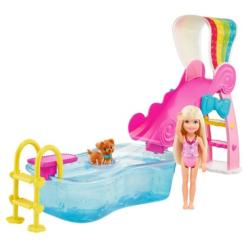 Barbie Flippin' Pup Pool! Chelsea Doll Playset - image 1 of 7