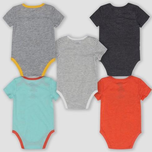 ac50e5caeebe Baby Dr. Seuss 5pk Short Sleeve Bodysuits - Newborn   Target