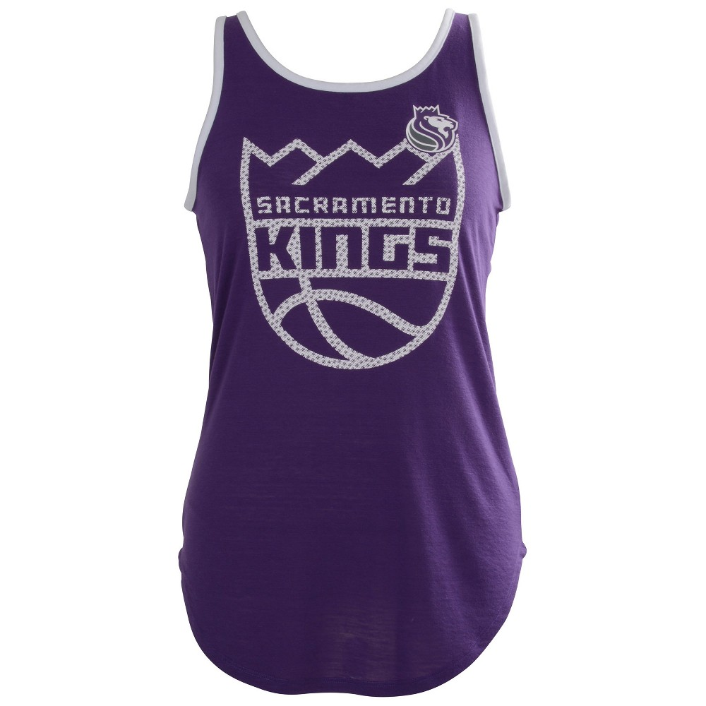 Sacramento Kings Women's B-Ball Slub Jersey Tank Top - XL, Multicolored
