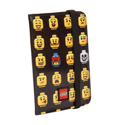 LEGO Minifigure Emoji Passport Case - Black/Yellow
