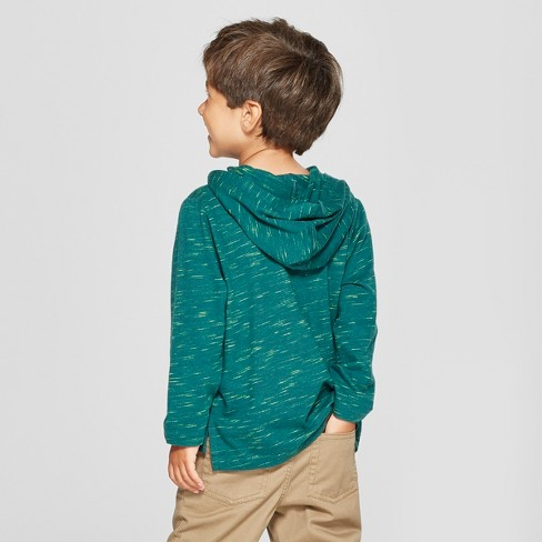 aebfa6d4 Toddler Boys' Long Sleeve Hoodie Henley Placket with Chest Pocket - Cat &  Jack™ Green