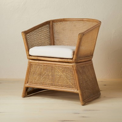Selma Wicker Barrel Chair with Cushion Ivory - Opalhouse™ designed with Jungalow™