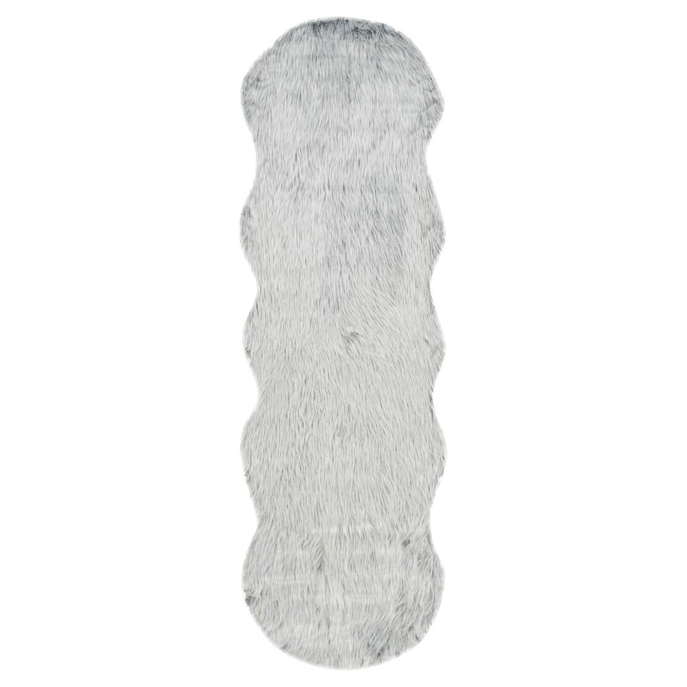 Faux Sheep Skin Rug - Light Gray - (2'6X8') - Safavieh