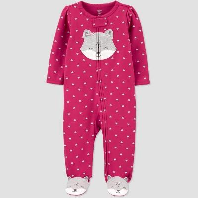 Baby Girls' Raccoon Interlock Sleep 'N Play - Just One You® made by carter's Plum 3M