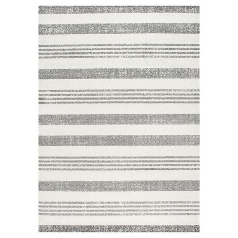 Striped Kelsi Gray Rug - nuLOOM - image 1 of 3