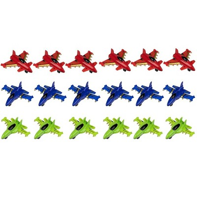 Party Favor Airplanes Pull-Back Toys (18 Pack)