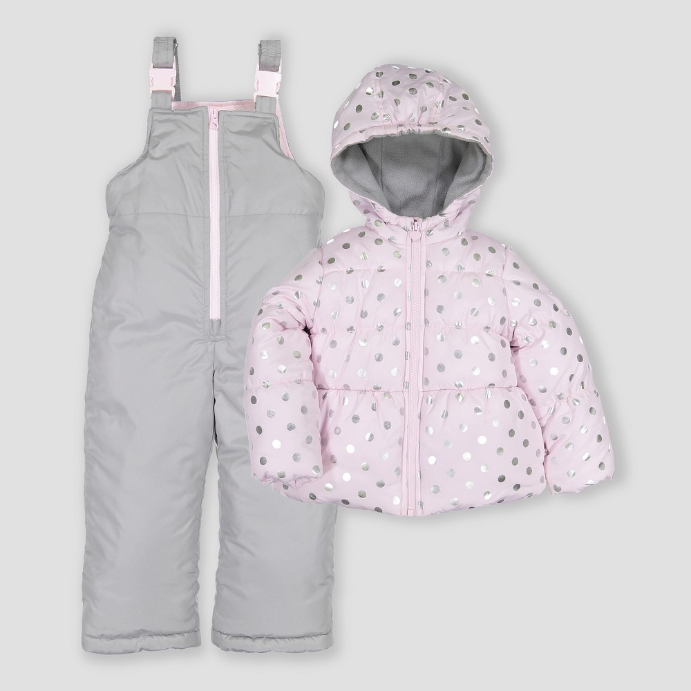 Toddler Girls' 2pc Snowsuit - Just One You made by carter's Pink 12M