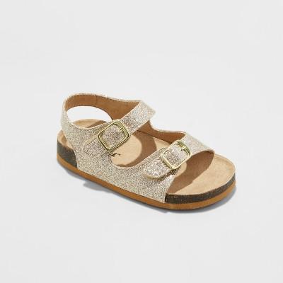 Toddler Girls' Tisha Footbed Sandals - Cat & Jack™ Gold 6