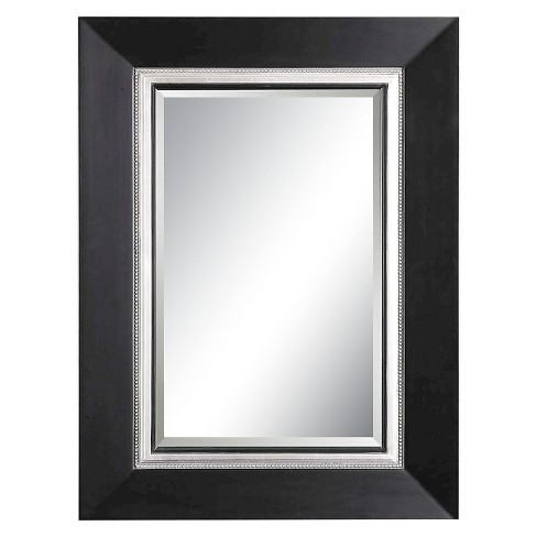 Rectangle Whitmore Decorative Wall Mirror Black Wood - Uttermost - image 1 of 1