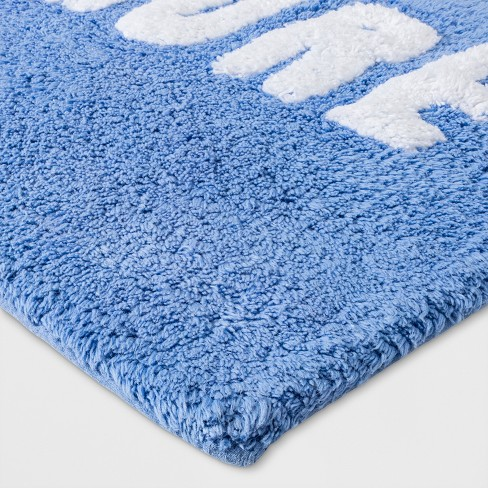 Tufted Love More Glisten Bath Rugs And Mats Bicycle Blue