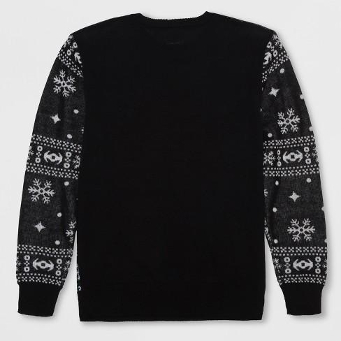 Mens Star Wars Vader Crossed Sabers Ugly Christmas Sweatshirt