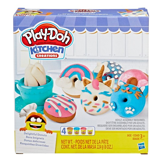 Play-Doh Kitchen Creations Delightful Donuts Set with 4 Colors image number null