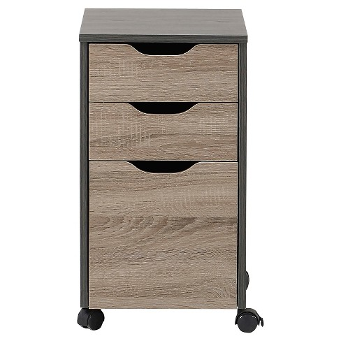 3-Drawer Storage Cabinet - Reclaimed Finish - Homestar - image 1 of 3