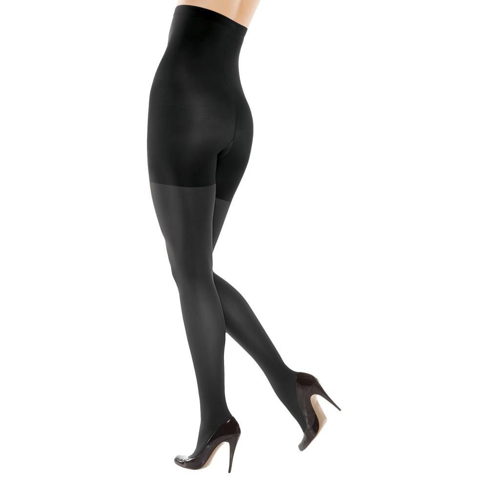 Image of Assets By Spanx Women's High-Waist Shaping Tights - Black 3