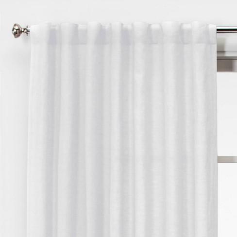 Linen Light Filtering Curtain Panels - Threshold™ - image 1 of 4