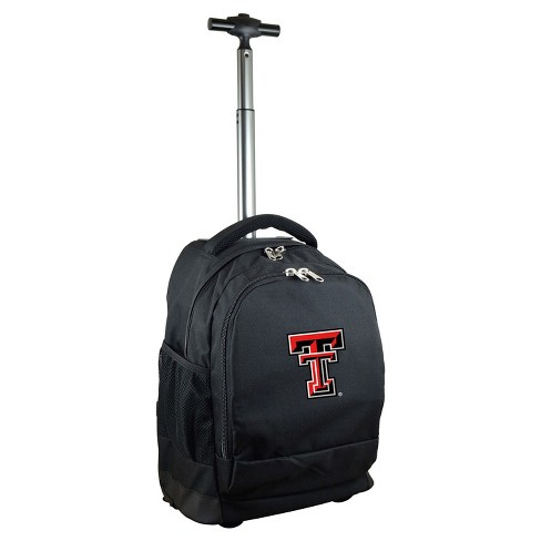 NCAA Texas Tech Red Raiders Black Premium Wheeled Backpack - image 1 of 4