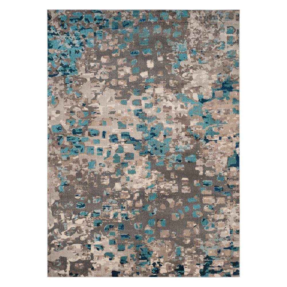 Shapes Area Rug Gray/Light Blue