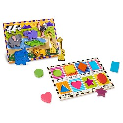 Melissa Doug First Play Chunky Puzzle Safari 5pc Target
