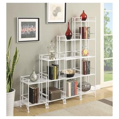 "45"" 4 Tier Folding Metal Shelf White - Breighton Home : Target"