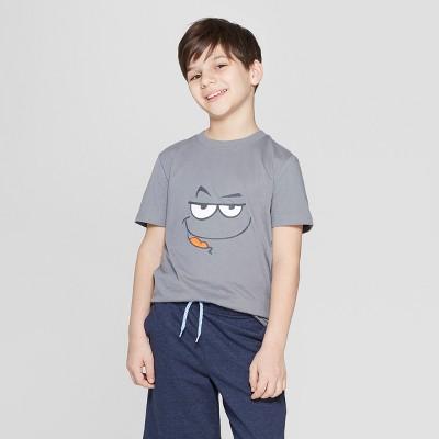 c6681445de1ea8 Boys  Smirk Face Short Sleeve Graphic T-Shirt - Cat   Jack™ Gray
