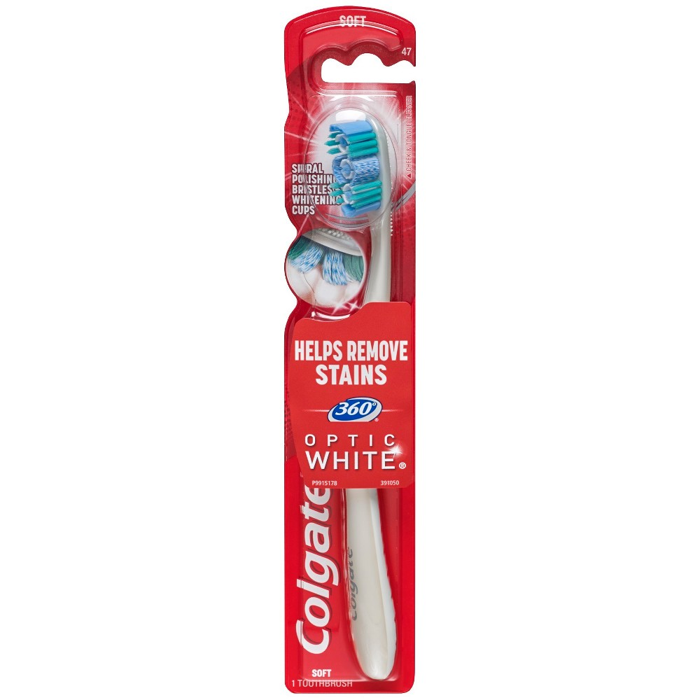 Image of Colgate 360 Optic White Whitening Toothbrush Soft - 1ct