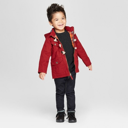 24aaaea9f Genuine Kids® from OshKosh Toddler Boys' Canvas Military Jacket with  Utility Pockets and Hood - Dark Red