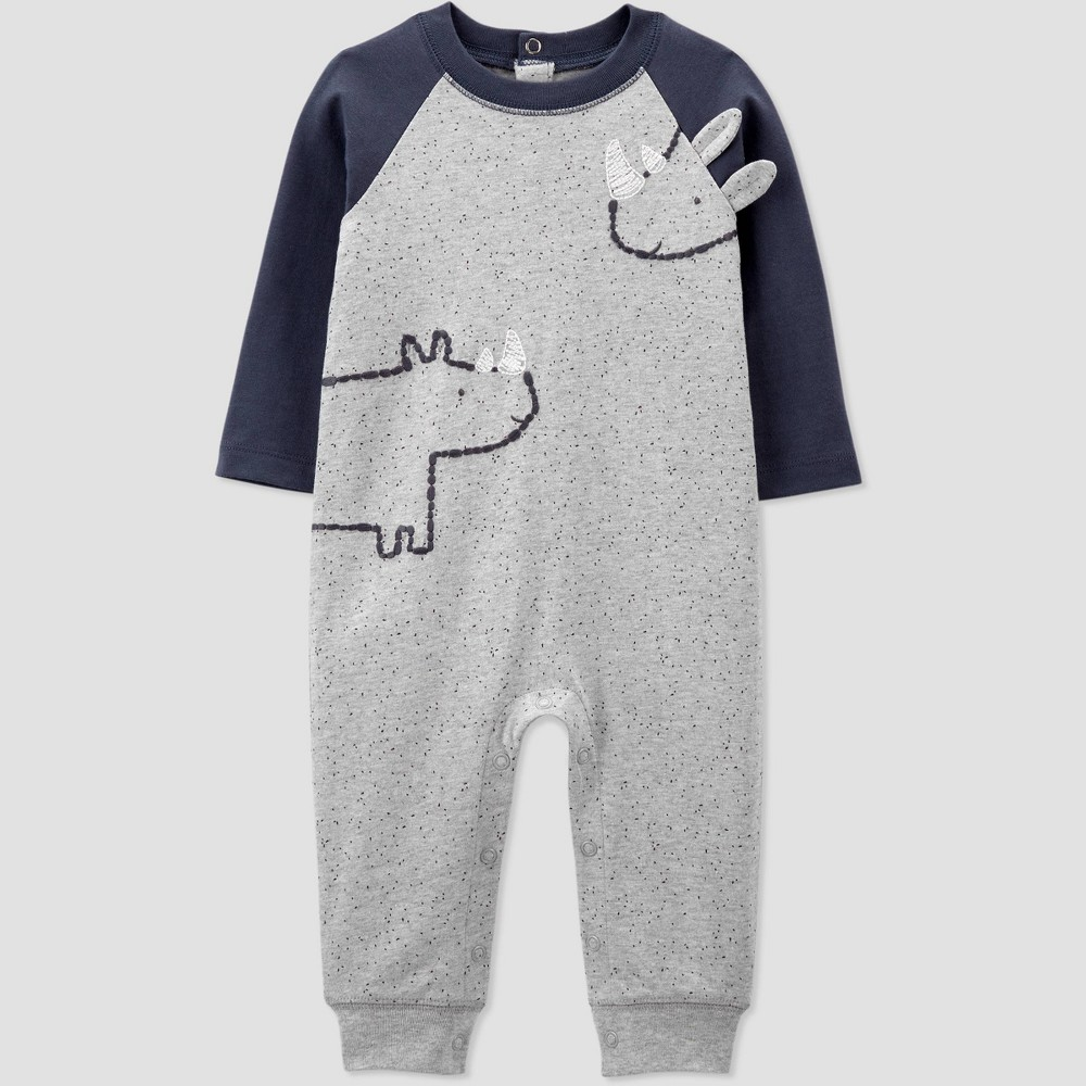 Baby Boys 39 Rhino Speckled Jumpsuit Just One You 174 Made By Carter 39 S Newborn