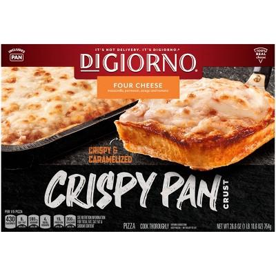 DiGiorno Crispy Pan Four Cheese Frozen Pizza - 26.6oz