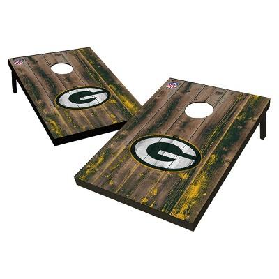 NFL Green Bay Packers Wild Sports 2'x3' Barnwood Bean Bag Toss