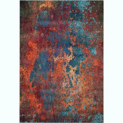 Celestial CES08 Atlantic Area Rug Colorful Contemporary Abstract By Nourison