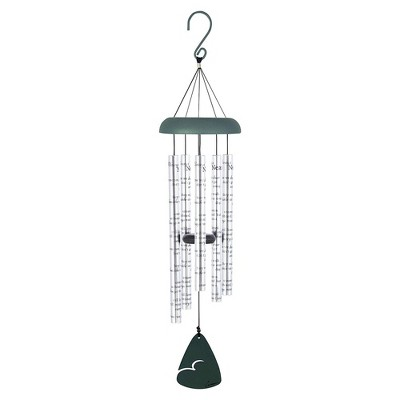 Carson Home Accents 62913 Always Near 30 Inch Sonnet Memorial Remembrance Wind Chime, Silver