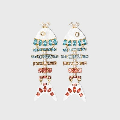 SUGARFIX by BaubleBar Colorful Fish Drop Earrings