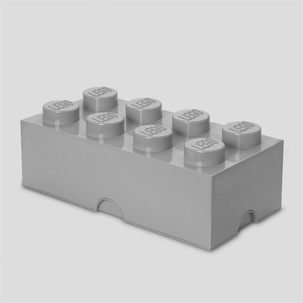 Image of Lego Storage Brick 8 Gray