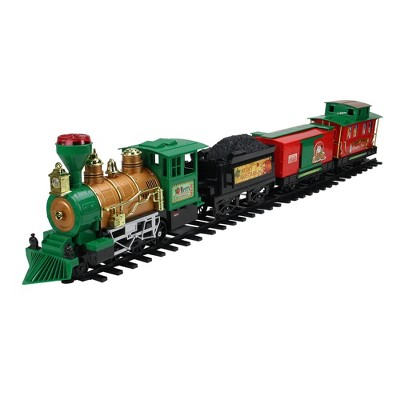 Northlight 20-Piece Battery Operated Lighted & Animated Christmas Express Train Set with Sound