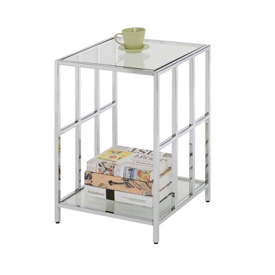 Mission Glass End Table Chrome - Breighton Home