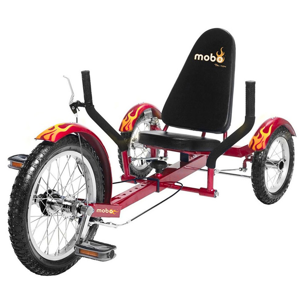 Mobo Youth Triton 16 Three Wheeled Cruiser - Red