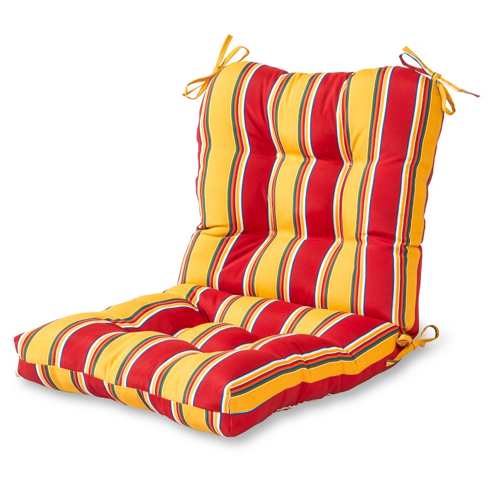 Carnival Stripe Outdoor Seat/Back Chair Cushion - Greendale Home Fashions