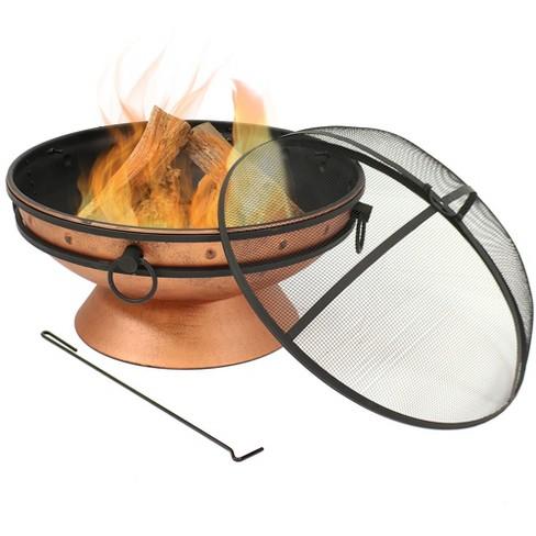 "Copper Large Outdoor 30"" Wood Burning Fire Pit Bowl - Round - Sunnydaze Decor - image 1 of 6"
