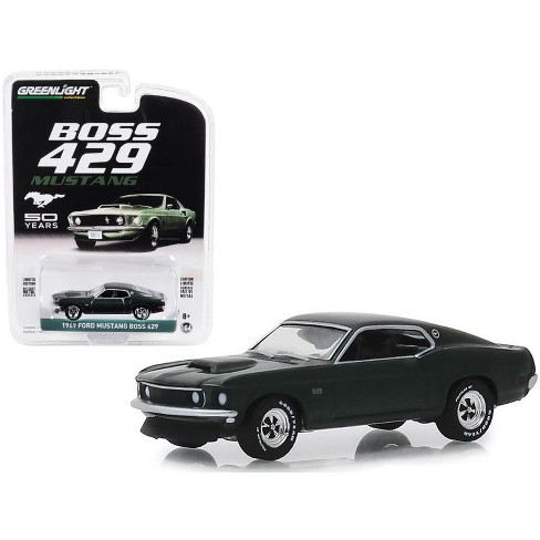 "1969 Ford Mustang Boss 429 ""50th Anniversary"" Dark Green ""Anniversary Collection"" 1/64 Diecast Model Car by Greenlight - image 1 of 1"