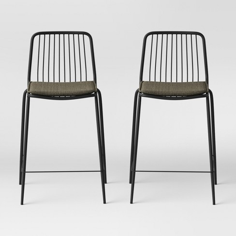 Outstanding Set Of 2 Sodra Square Seat Wire Counter Stool Project 62 Caraccident5 Cool Chair Designs And Ideas Caraccident5Info