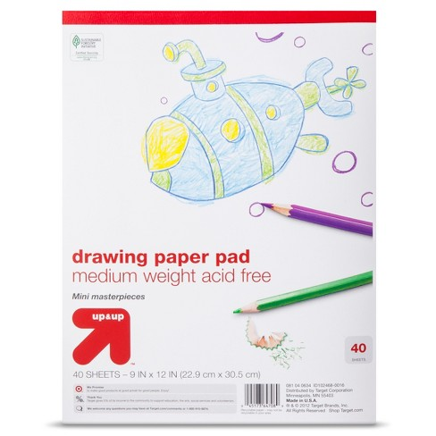 9x12 Drawing Paper Pad - 40ct Medium Weight - Up&Up™ - image 1 of 1