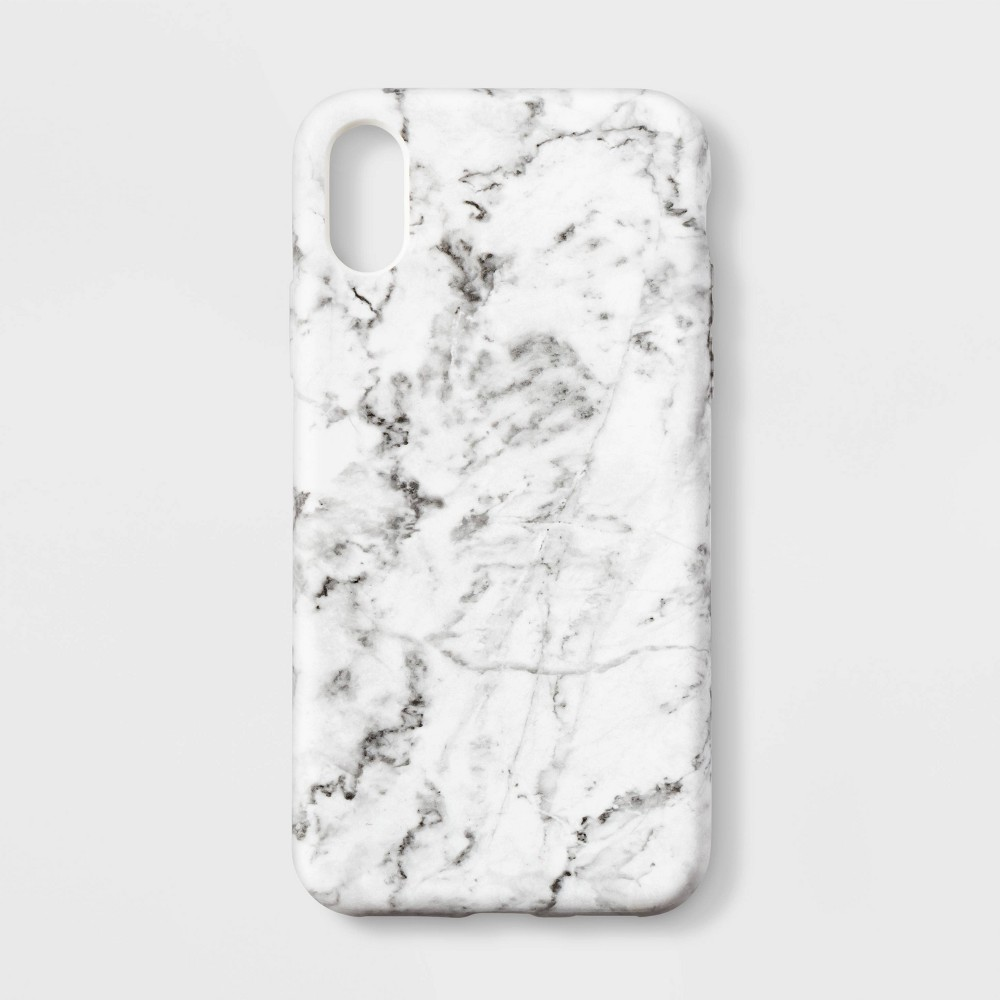 heyday Apple iPhone XS Case - White Marble, Blue