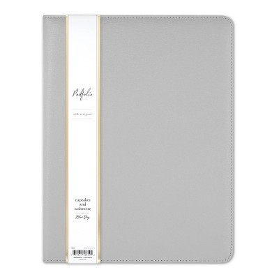 """Gray Padfolio 8.5"""" x 11"""" - cupcakes and cashmere for Blue Sky"""