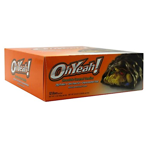 Oh Yeah Protein Bar - Chocolate Caramel Candy - 12ct - image 1 of 1